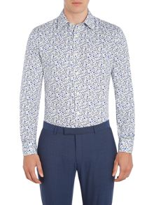Howick Tailored Wisconsin slim fit print shirt