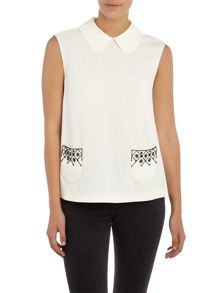 Max Mara Pattino embellished pocket shirt