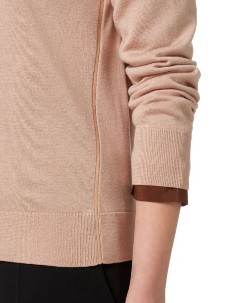 Max Mara Ocroma pleather detail jumper