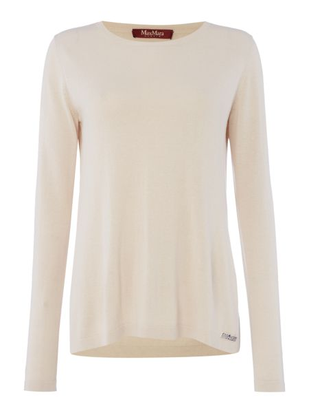 Max Mara Zolfo long sleeve silk mix jumper