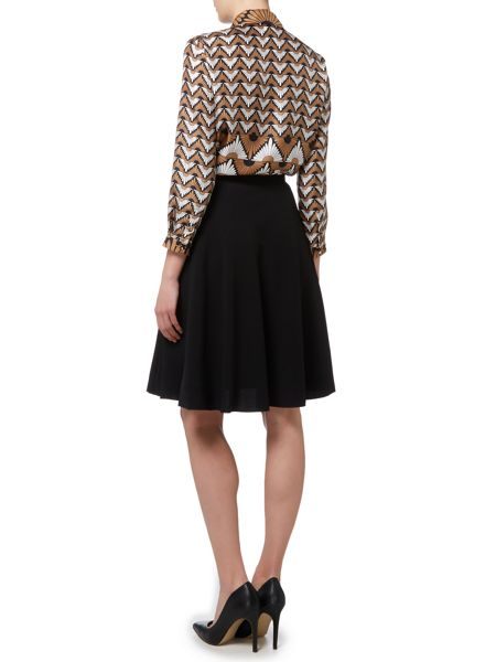 Max Mara Vite long sleeve geometric silk shirt
