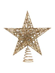 Linea Gold Glitter Tree Topper