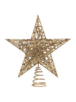 Gold Glitter Tree Topper