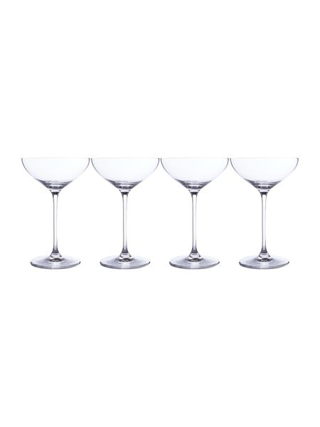 Linea Champagne saucer set of 4