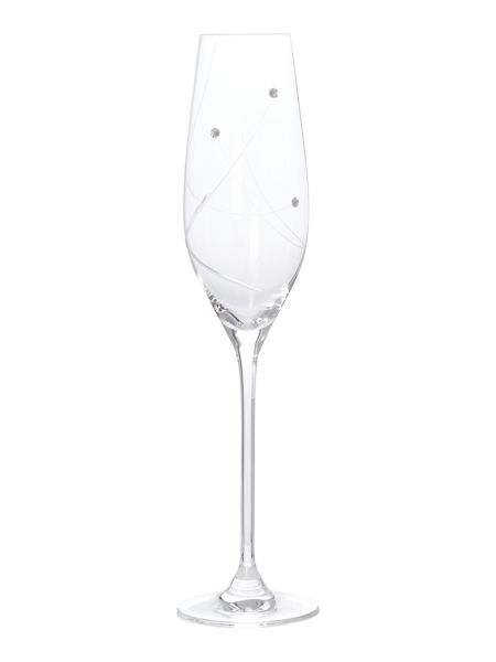 Linea Angelina swarovski crystal ice bucket and flutes