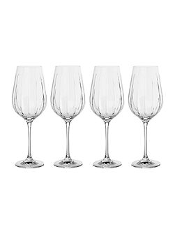 Beaumont set of 4 cut crystal red wine