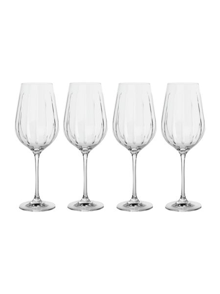 Casa Couture Beaumont set of 4 cut crystal red wine glasses