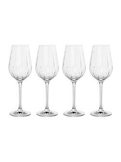 Beaumont set of 4 crystal white wine glasses