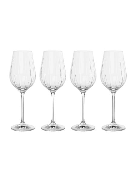 Casa Couture Beaumont set of 4 crystal white wine glasses