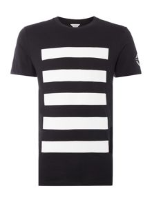 Jack & Jones Buzz Lines Graphic Crew Neck Short Sleeve T-shirt