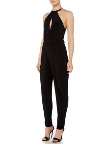 Girls on Film Sleeveless Halterneck Jumpsuit