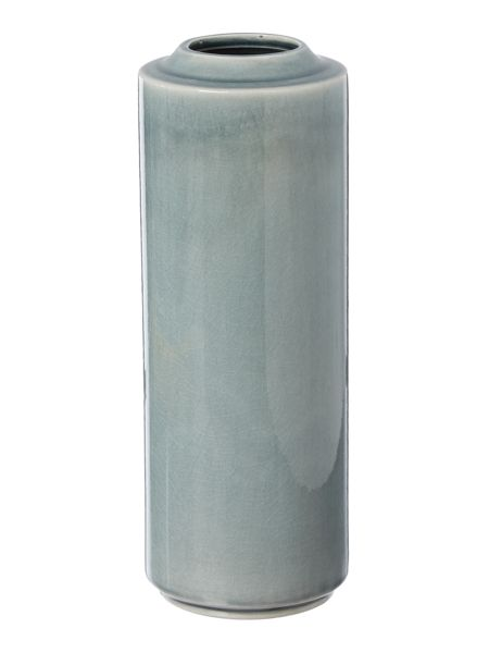 Gray & Willow Elga blue crackled glaze vase