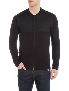 Jack & Jones Zip Through Hybrid Knitted Jumper