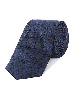 Darin photographic floral jacquard tie