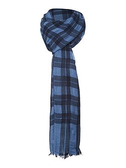 Squaw contrast check scarf