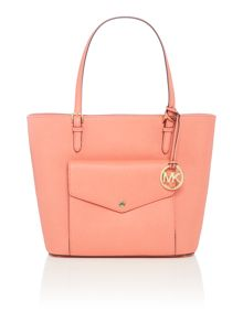 Michael Kors Jet set item pink large pocket tote bag