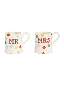 Polka Dot Mr & Mrs Set of Two