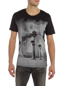 Only & Sons Palm Tree Graphic Crew neck Short Sleeve T-shirt