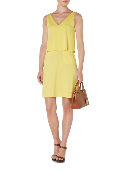 Lauren Ralph Lauren Dondi Sleeveless V Neck Dress