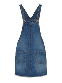 Vero Moda Sleeveless Denim Dungaree Dress
