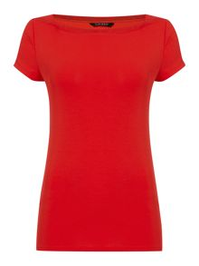 Lauren Ralph Lauren Deshan Short Sleeve Boatneck Top