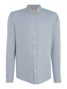 Hugo Boss Edipoe mini gingham check long sleeve shirt