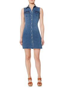 Bardot Sleeveless Denim Mini Dress