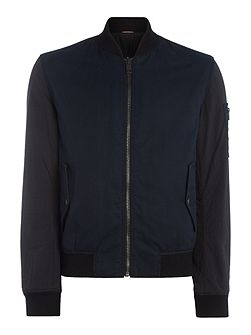 Odorian zip through reversable bomber jacket