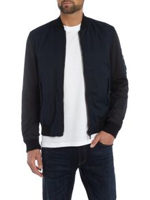 Hugo Boss Odorian zip through reversable bomber jacket