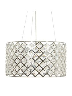 Freya Crystal Diamond Shape Celing Light