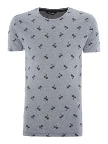 Only & Sons All Over Shark Print Crew Neck T-shirt