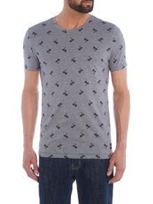 Only & Sons Mini Palm Tree Print Crew Neck T-shirt