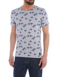 Only & Sons Mini Palm Tree Crew Neck Short Sleeve T-shirt