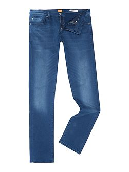 Orange72 skinny fit overdyed blue jeans