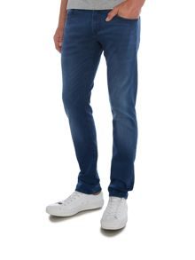 Hugo Boss Orange72 skinny fit overdyed blue jeans