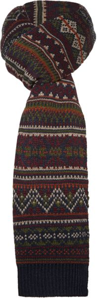 Criminal Knitted Fairisle Scarf