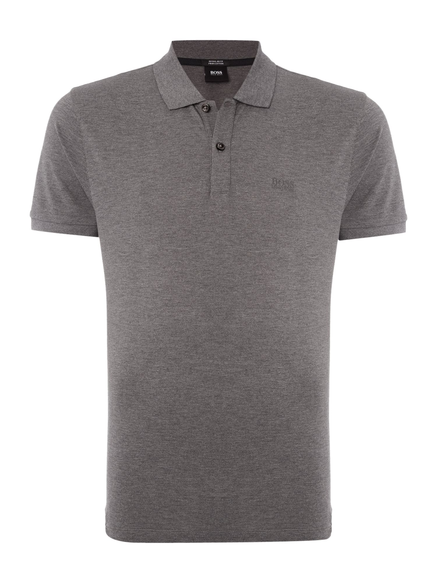Men's Hugo Boss Pallas Regular Fit Short Sleeve Logo Polo, Light Grey