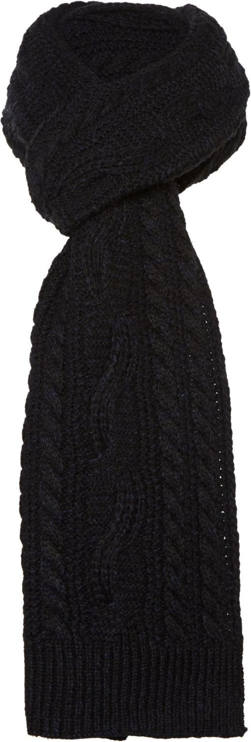 Howick Cable Knit Scarf Navy