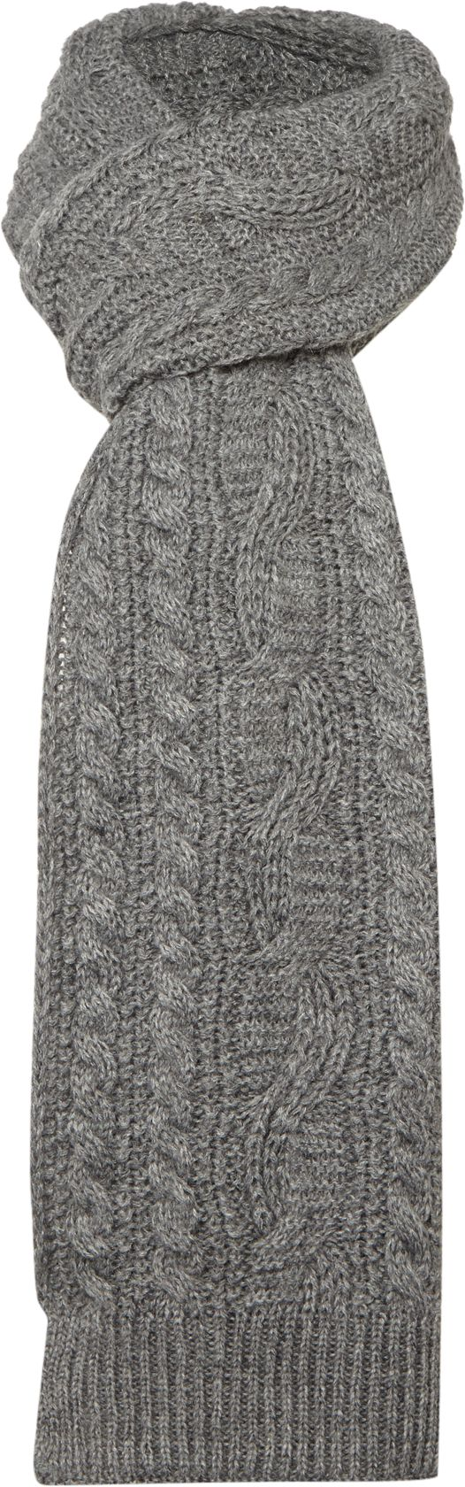 Howick Cable Knit Scarf Grey
