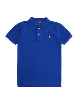 Short Sleeve Polo Solid Mesh w small logo
