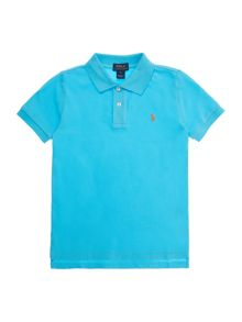 Polo Ralph Lauren Short Sleeve Polo Solid Mesh w small logo