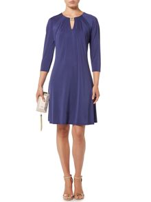 Biba Jersey gold trim luxe knee length dress