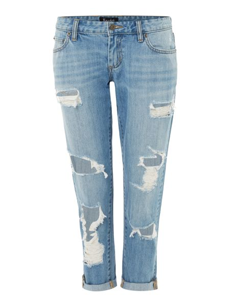 Bardot Distressed Boyfriend Jeans