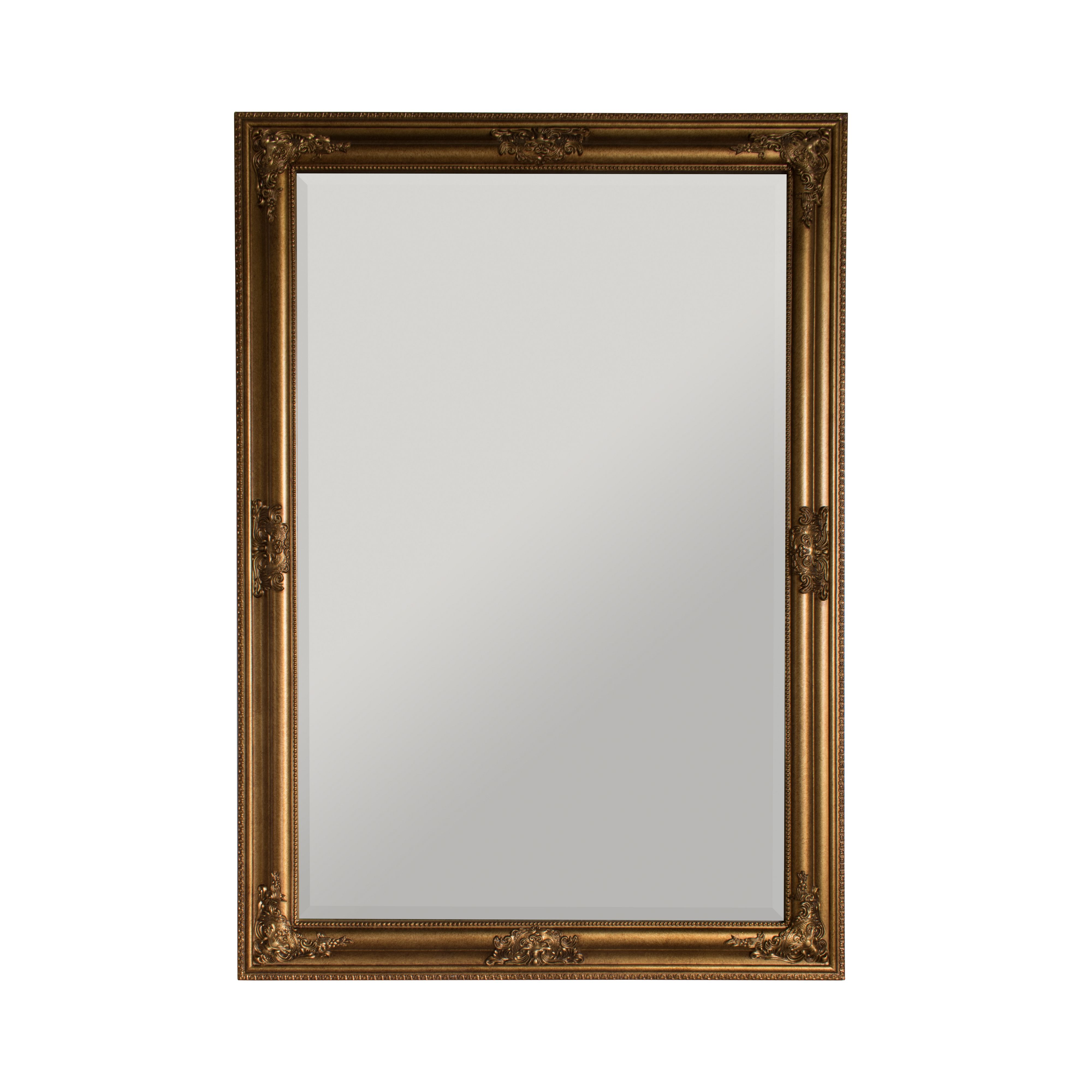 Linea florence gold mirror 60 x 90cm gold octer for Miroir 150 x 60
