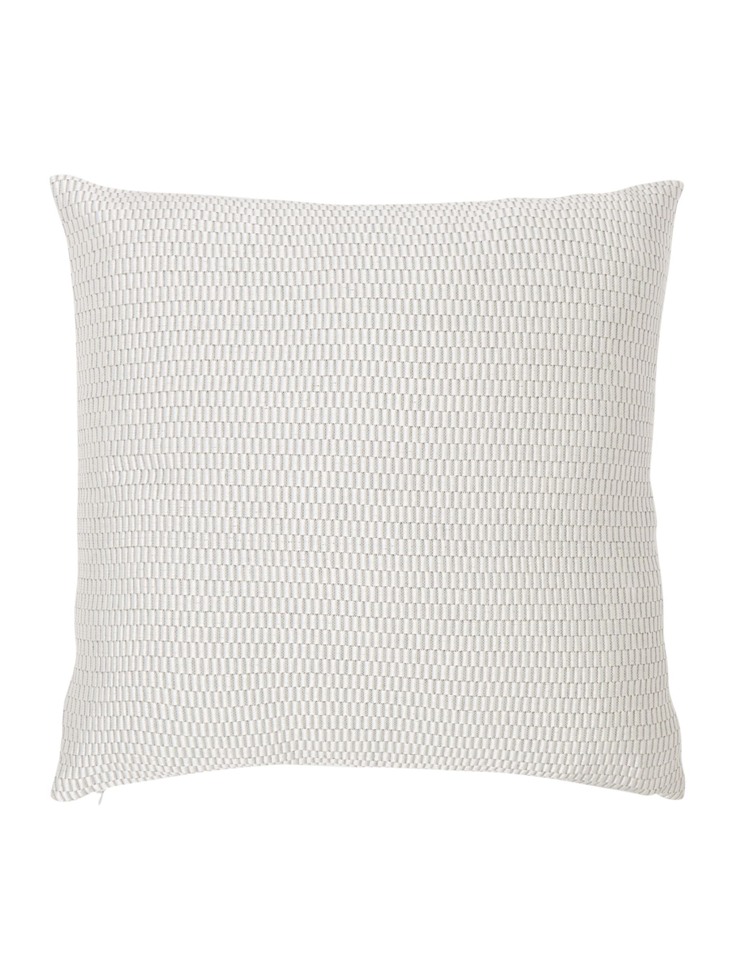 Image of Casa Couture Argento jacquard cushion