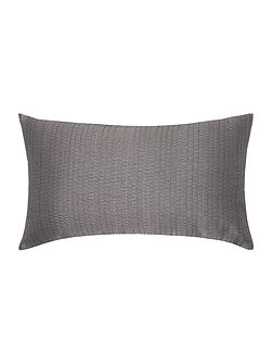 Gunmetal jacquard cushion