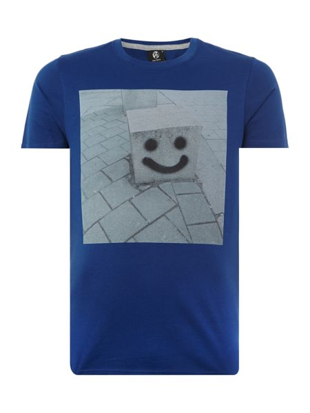 PS By Paul Smith Slim fit happy pillar print crew neck t shirt