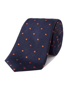 New & Lingwood Rue polka dot tie