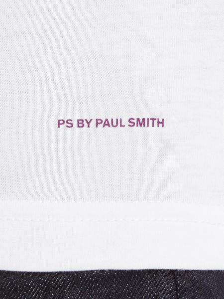 PS By Paul Smith Slim fit four square print crew neck t shirt