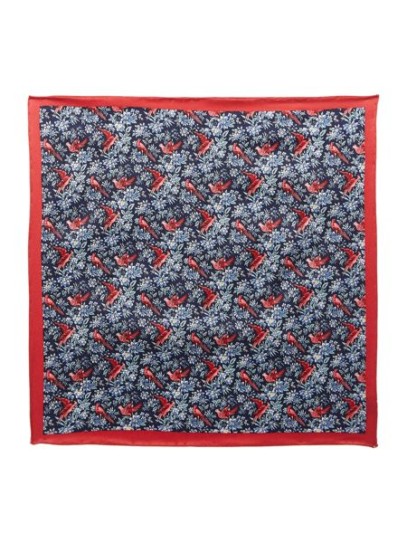 New & Lingwood Celsia bird of paradise pocket square